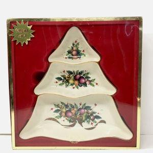 Lenox Porcelain Divided Server Holiday Tartan 3